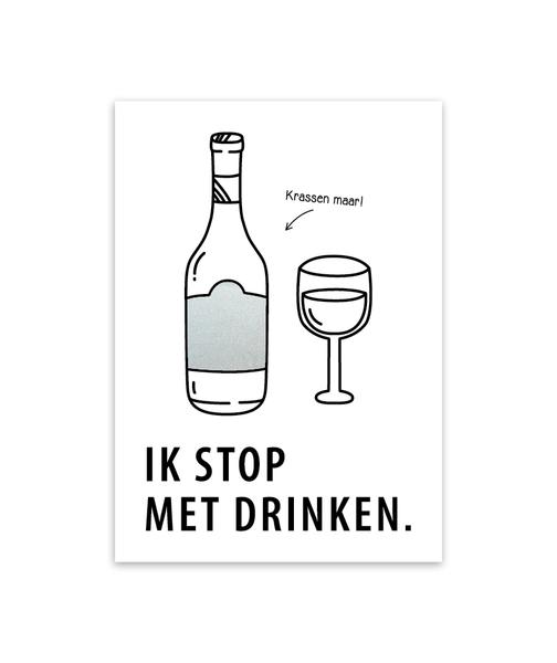Kraskaart 'Ik stop met drinken'