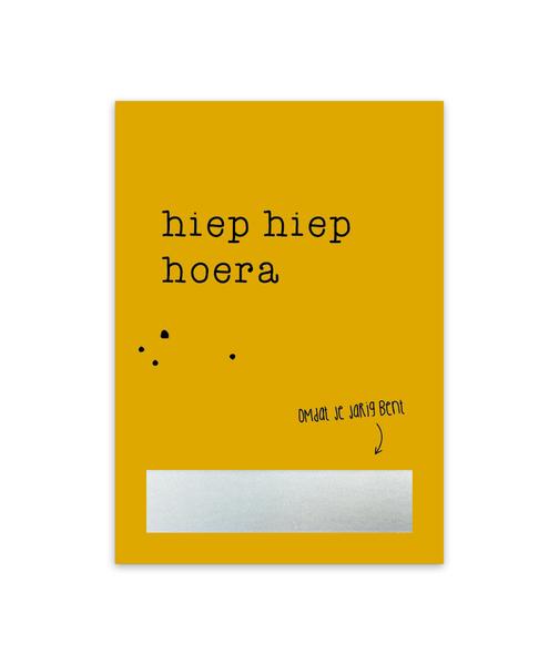 Kraskaart 'Hiep hiep hoera'