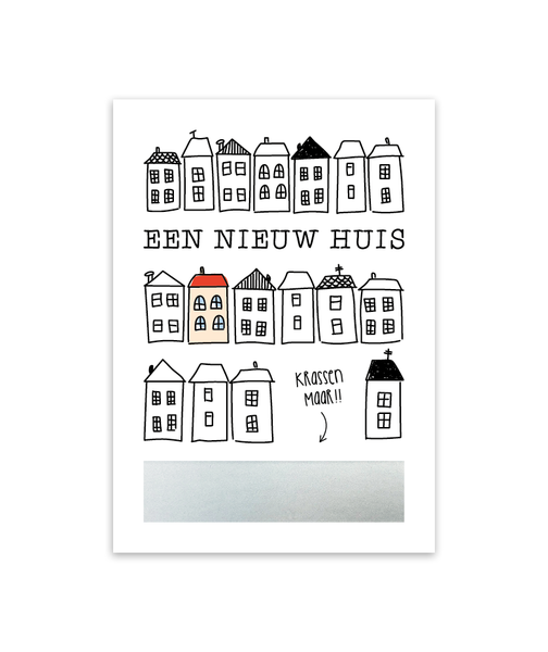 Kraskaart 'Een nieuw huis'