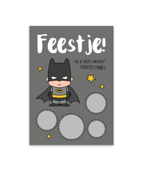 Kraskaart 'Uitnodiging Batman'
