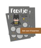 Kraskaartenset 'Uitnodiging Batman' (5 stuks)_