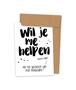 Kraskaart 'Helpen uitzoeken van mijn trouwjurk' (Stip)