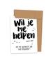 Kraskaart 'Helpen uitzoeken van mijn trouwpak' (Stip)