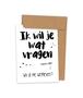 Kraskaart 'Wil je me weggeven?' (Stip)