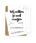 Kraskaartenset 'Getuigen en ceremoniemeester' 4 + 1 stuks (Stip)