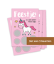 Kraskaartenset 'Uitnodiging Unicorn' (5 stuks)